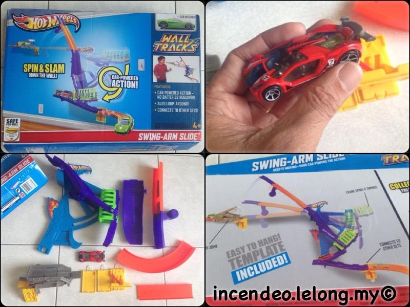 **incendeo** - HOT WHEELS Swing-Arm Slide Car Wall Tracks Set