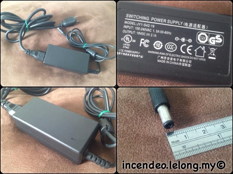 **incendeo** - ITE 19V 2.1A Switching Power Adapter JY1-S42-19