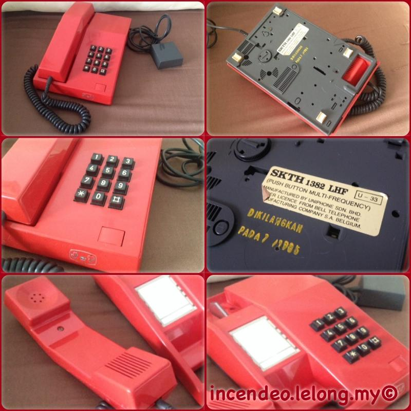 **Incendeo** - JT Telekom SKTH 1382 LHF Push Button Phone (Year 1985)