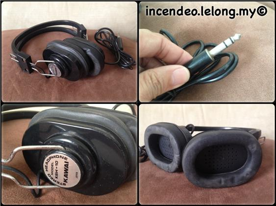 **Incendeo** - KAWAI Japan Vintage 8Ohms Stereo Headphone KSH-10