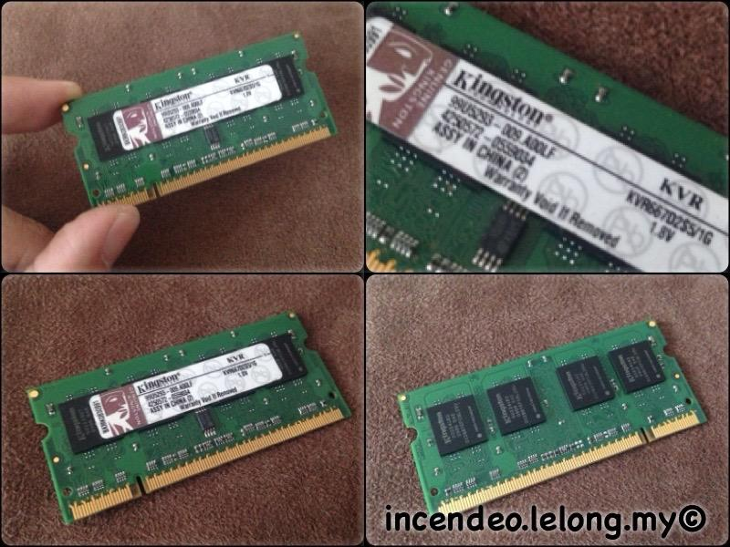 **incendeo** - KINGSTON 1GB PC2-5300 DDR2 Laptop Memory KVR667D2S5/1G