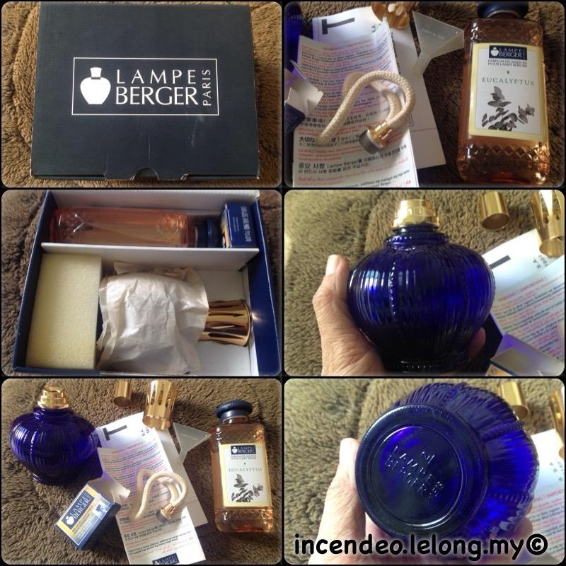 **incendeo** - LAMPE BERGER Blue Catalytic Aladdin Lamp Gift Set