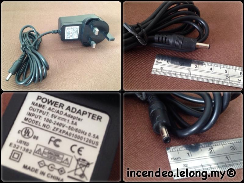 **Incendeo** - LEI 9V 850mA Power Adapter (Free Shipping)