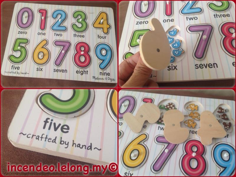 **incendeo** - Melissa & Doug Hand Crafted Wooden Numbers Puzzle