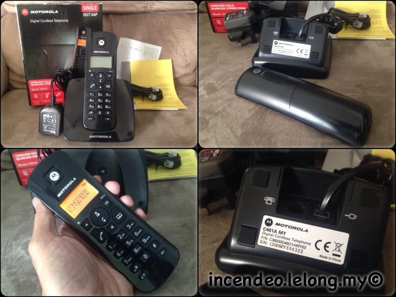 **incendeo** - MOTOROLA Digital Cordless Telephone C401AMY