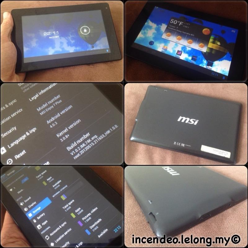 **incendeo** - MSI Enjoy 7 Plus Android Tablet