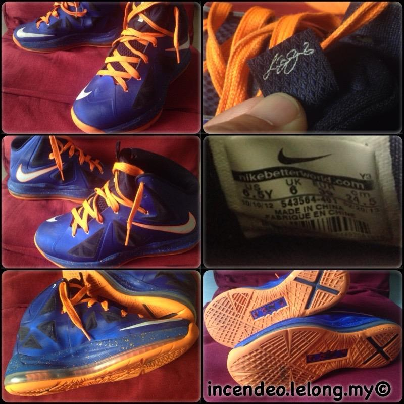 **incendeo** - NIKE LeBron 10 P.S. Elite Royal Blue/Orange Shoe