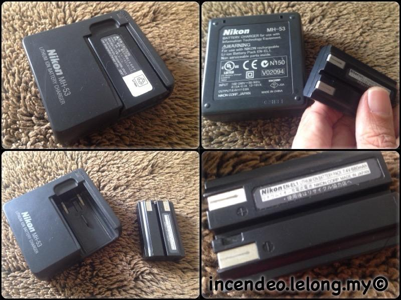**incendeo** - NIKON Camera Battery Charger MH-53 and Battery EN-EL1