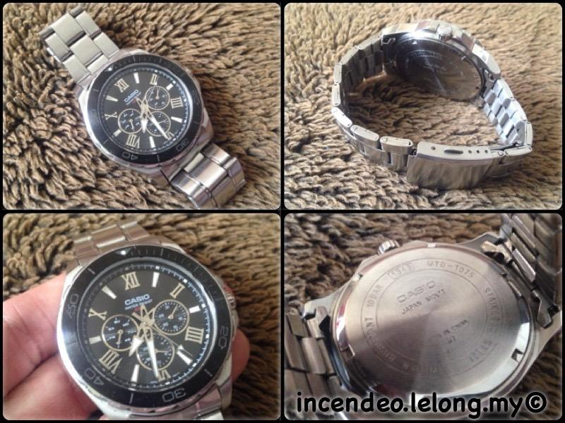 **incendeo** - Original CASIO Stainless Steel Large Watch MTD-1075