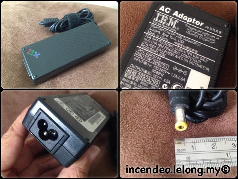 **incendeo** - Original IBM 16V 4.5A Power Adapter