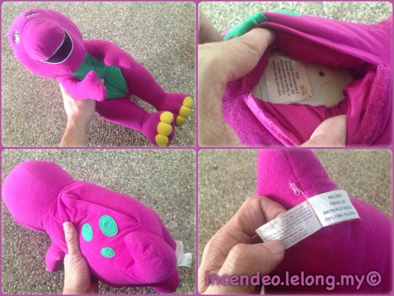 **incendeo** - Original Jumbo Talking Barney for Kids