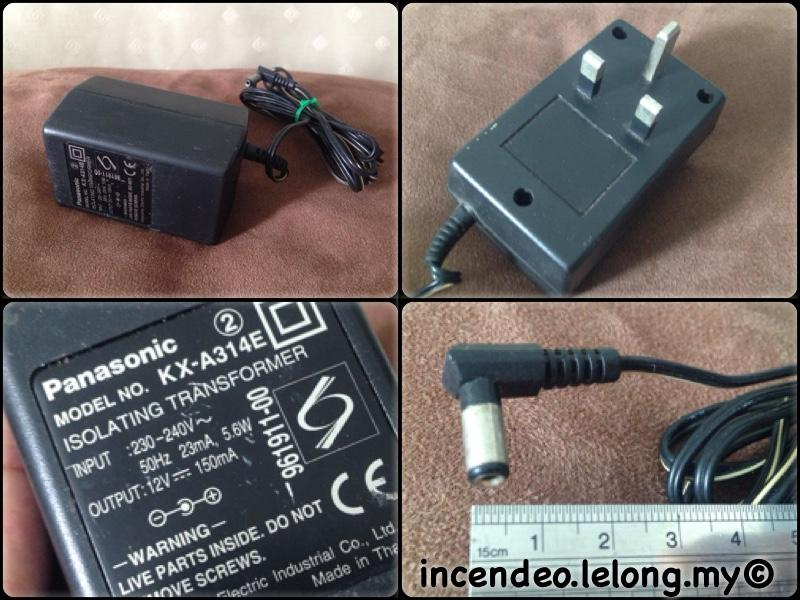 **incendeo** - Original PANASONIC 12V 150mA Power Adapter KX-A314E