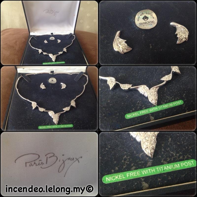 **incendeo** - PARIS BIJOUX Designer Leaves Necklace and Ear Rings