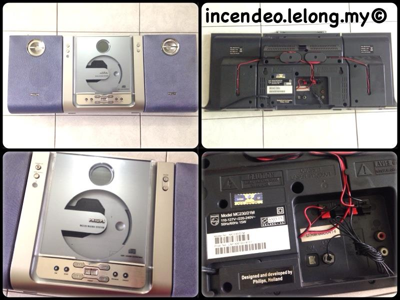 **Incendeo** - PHILIPS CD/FM/AUX Micro System MC230/21M