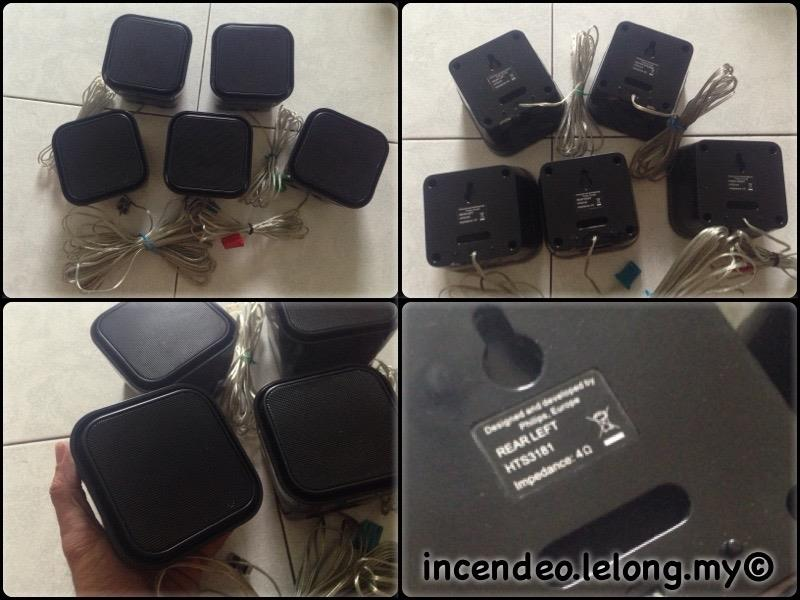 **incendeo** - PHILIPS Cube Surround Speakers HTS3181 (5pcs)