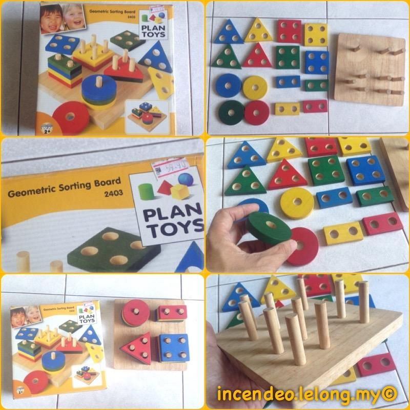 **incendeo** - PLAN TOYS Geometric Sorting Board 2403 for Toddlers