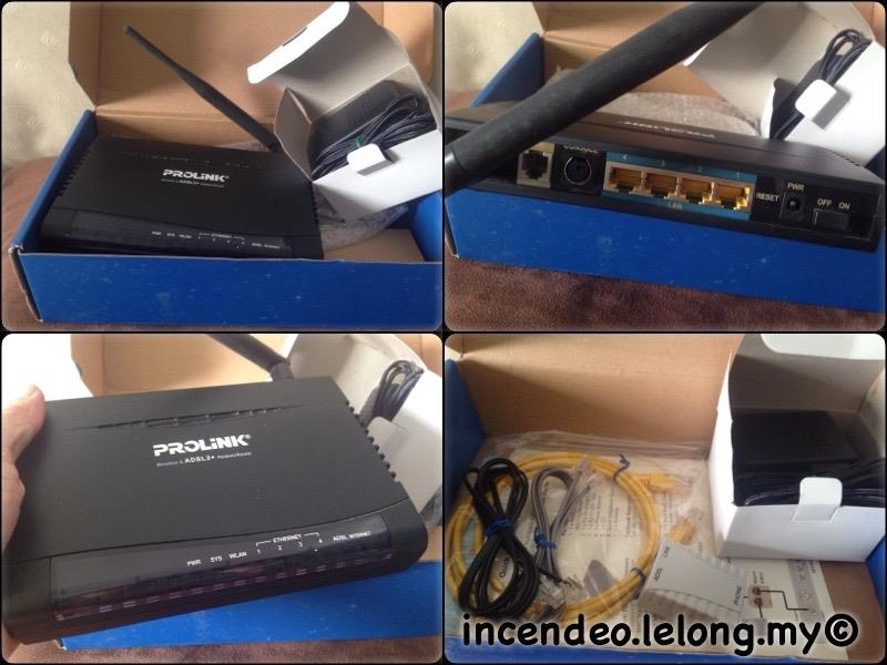 **incendeo** - PROLINK Hurricane Wireless G ADSL2+ Modem Router 9300G
