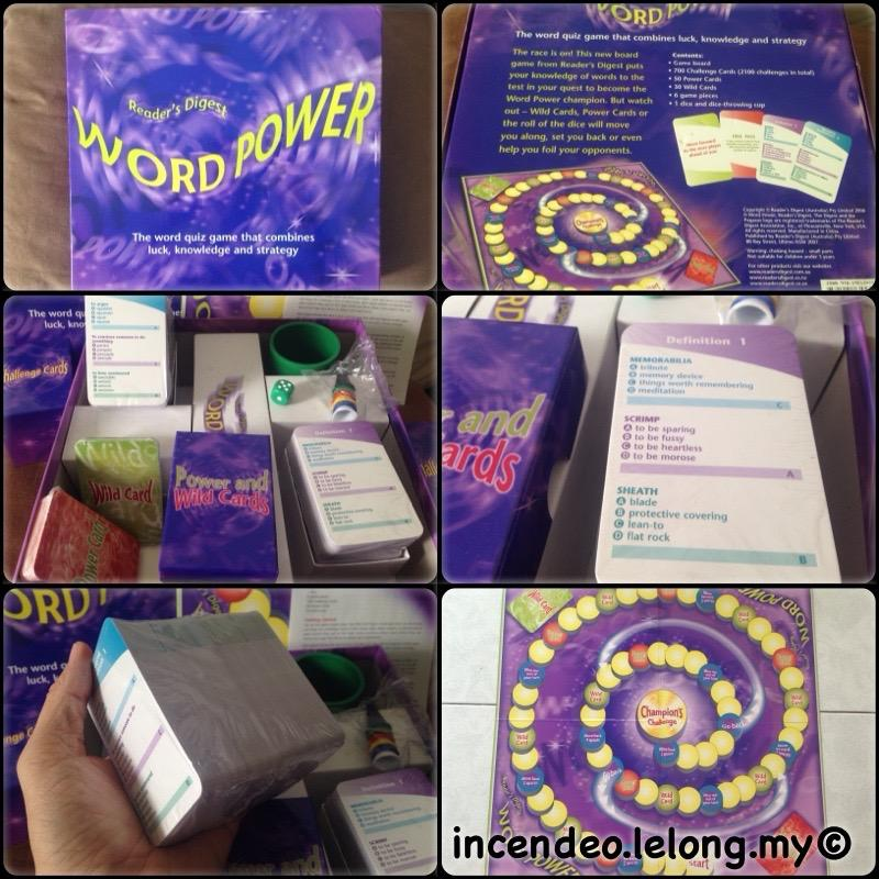 **incendeo** - READER DIGEST Word Power Board Games