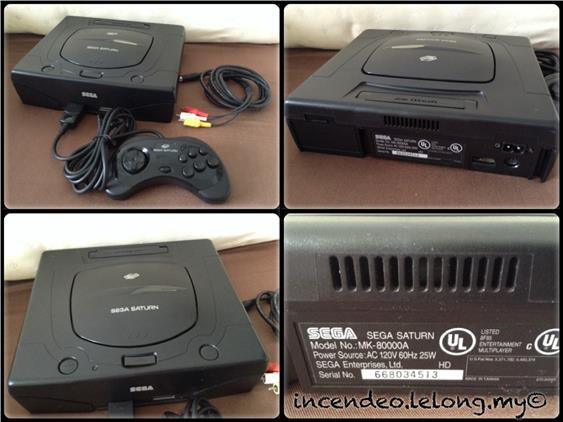 **Incendeo** - Retro SEGA Saturn Game Console MK-80000A