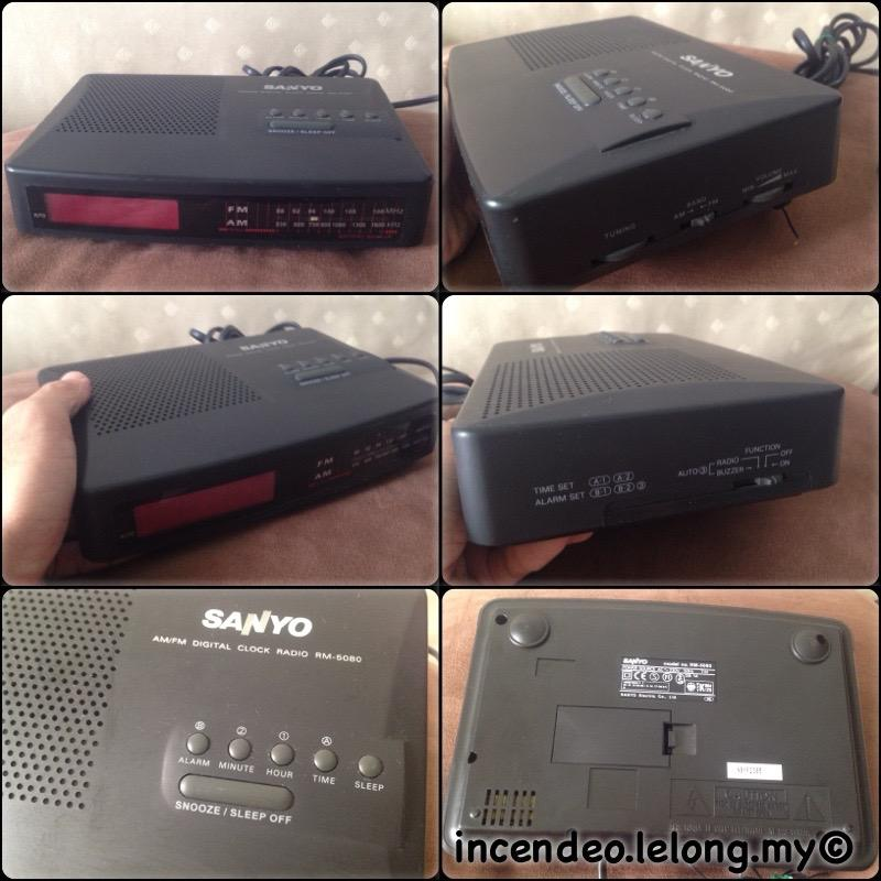 **incendeo** - SANYO Digital Clock Radio RM-5080