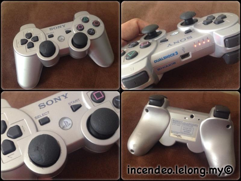 **incendeo** - SONY DUALSHOCK3 Game Controller for PS3 (Silver)