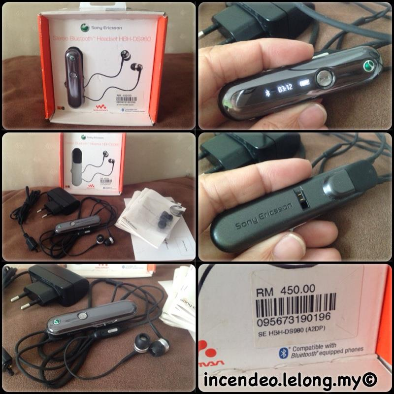 **incendeo** - SONY ERICSSON Stereo Bluetooth Headset HBH-DS980