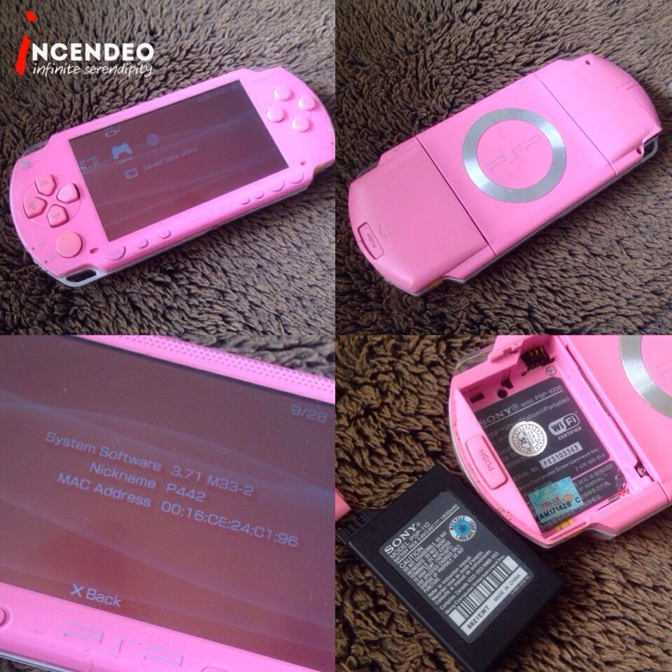 **incendeo** - SONY Playstation Portable Pink Game Console PSP-1006