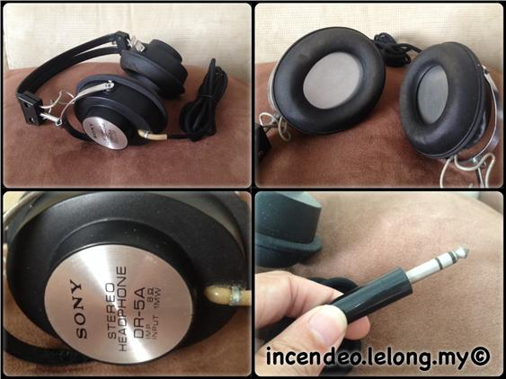 **Incendeo** - SONY Vintage 8Ohms Stereo Headphone DR-5A