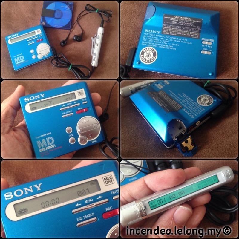 **incendeo** - SONY Walkman Portable Mini Disc Recorder MZ-R70