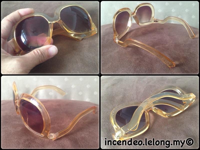**incendeo** - Stylish Orange Oversized Sunglasses for Ladies