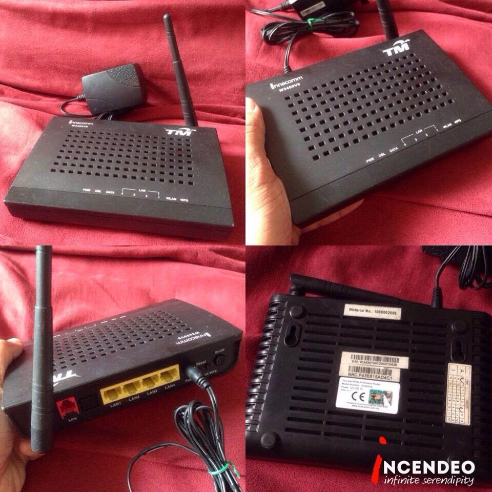 **incendeo** - TM INNACOMM ADSL2+ Wireless Router W3400