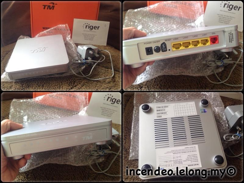 **incendeo** - TM RIGER ADSL2+ Wireless Modem Router ADSL-RIGER-DB120W