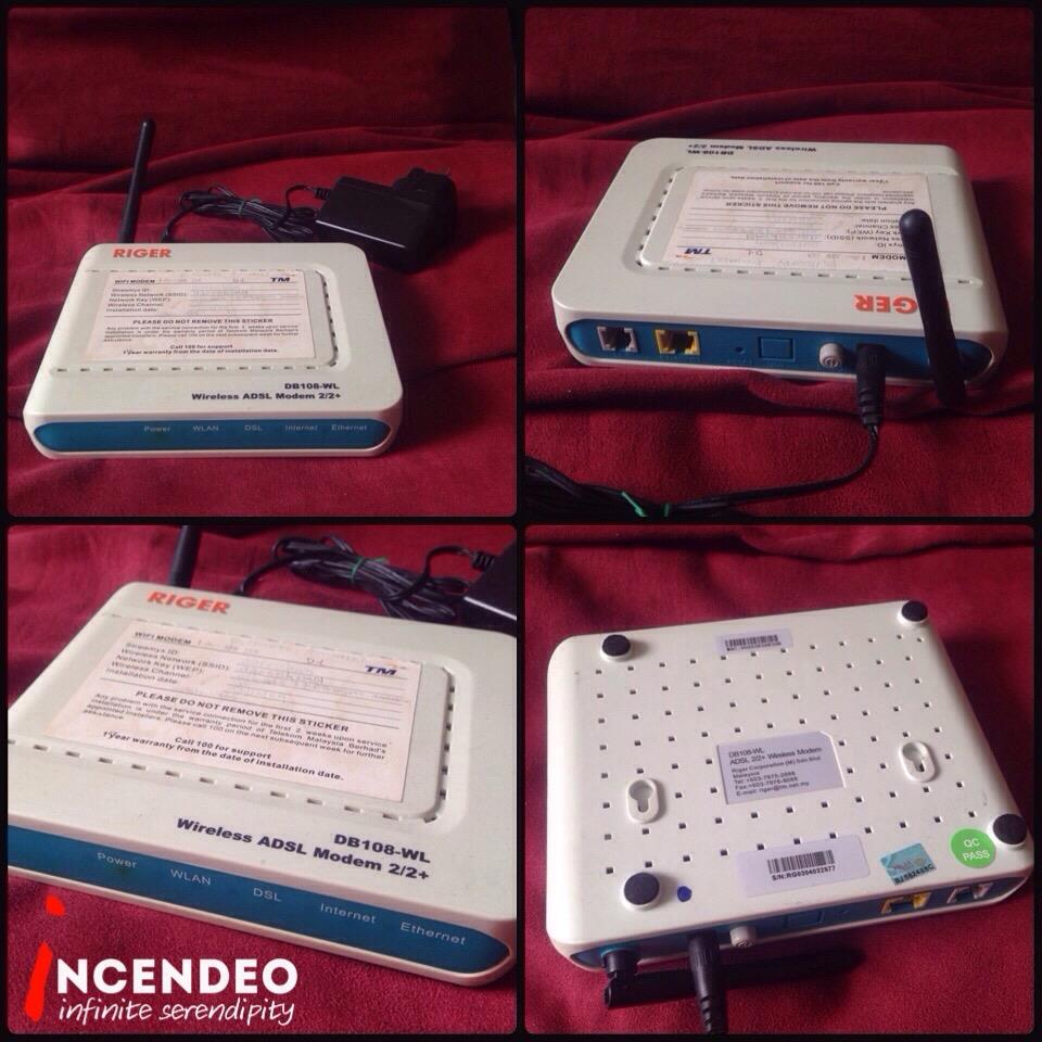 **incendeo** - TM RIGER Wireless ADSL2+ Modem DB-108WL