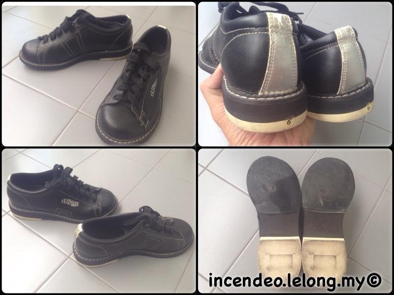**incendeo** - Ultimate Black Genuine Leather Bowling Shoe