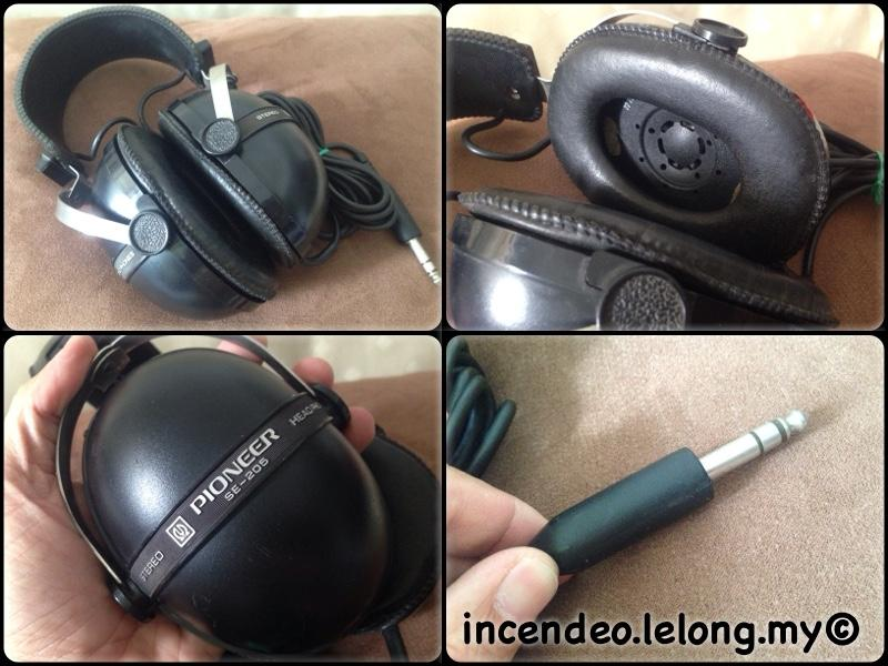 **incendeo** - Vintage PIONEER Stereo Headphone SE—205