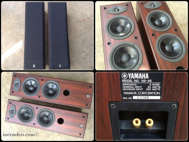 Incendeo** - Yamaha Home Speakers NS-45 (1 Pair) (Penang, end time ...