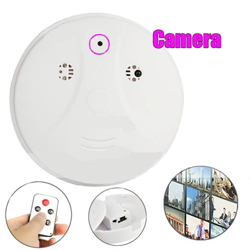 Indestructible Smoke Detector Camera Spy HDDVR wth Remote Control with