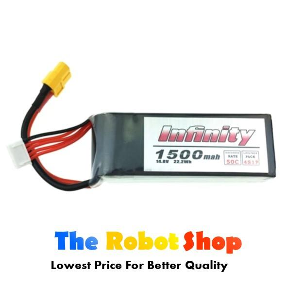 Infinity 14.8v 4s 1500mah 50c Lipo Rechargeable Battery RC Car / Drone