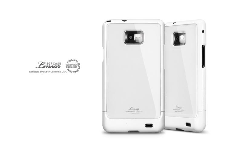INFINITY WHITE SGP Linear Pure Case for Samsung Galaxy S2 Imported Fro..