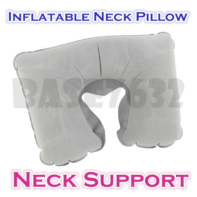 Inflatable Neck Support Pillow Travel Must Tool Kit  Relax Comfortable