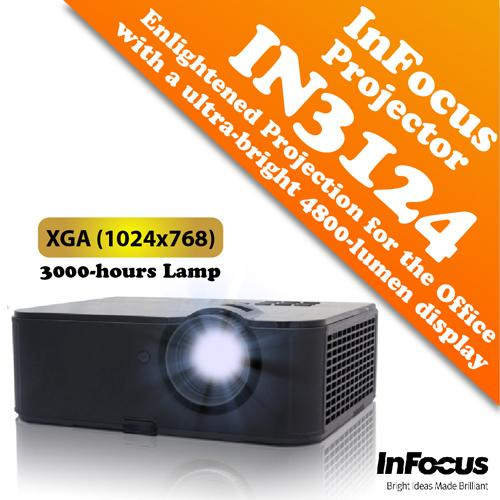 InFocus IN3124 XGA (1024x768) Projector with 4800 ANSI Lumens