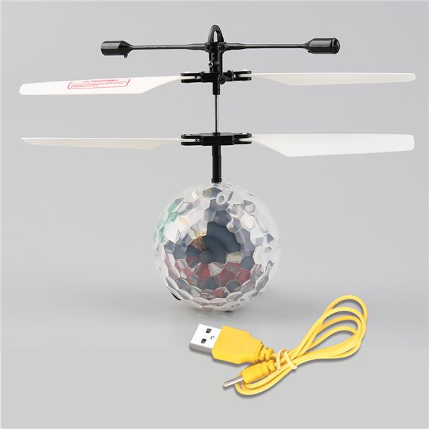 Infrared Induction Flying Flash Disco Colorful LED Ball Helicopter Chi