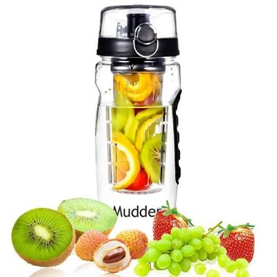 Infuser Water Bottle Large 32 Oz Tritan Sport Fruit Infused Bottle
