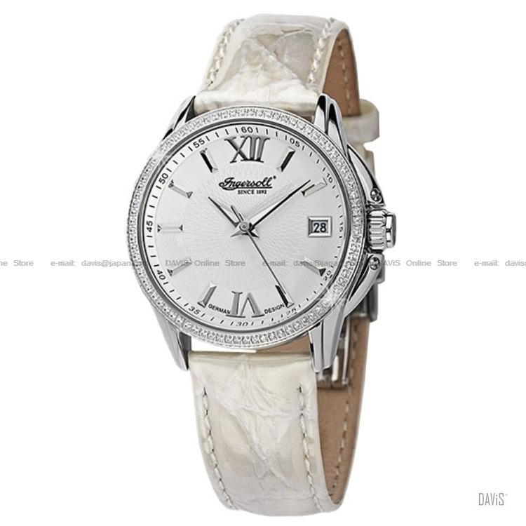 INGERSOLL IN8006WH Automatic Piegan Date Glittering W-White Leather LE