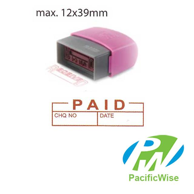 Self-Inking Stamp (RED) - Paid with Date