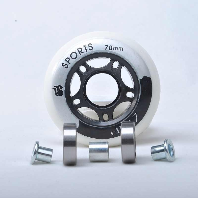 Inline Rollerblade Wheels 70mm 82A Bearings Included