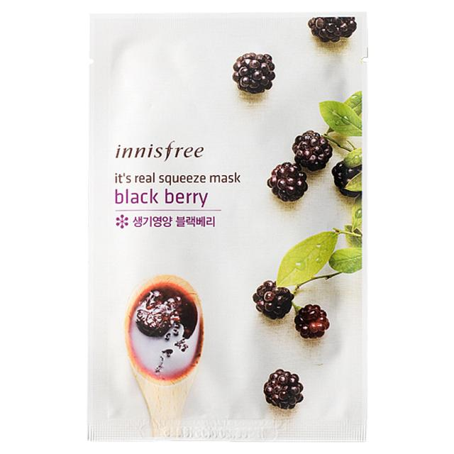 Innisfree Its Real Squeeze Mask - Blackberry 20ml