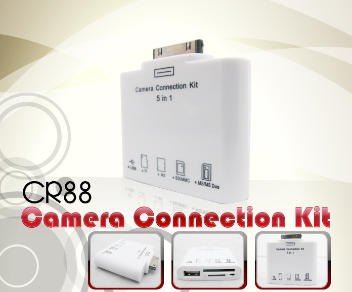 INNO 5 IN 1 CONNECTION KIT FOR APPLE IPHONE / IPAD (CR88)