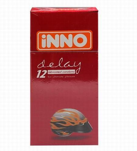 INNO DELAY CONDOM 12pcs (Prolong Play Condom) Tahan Lama