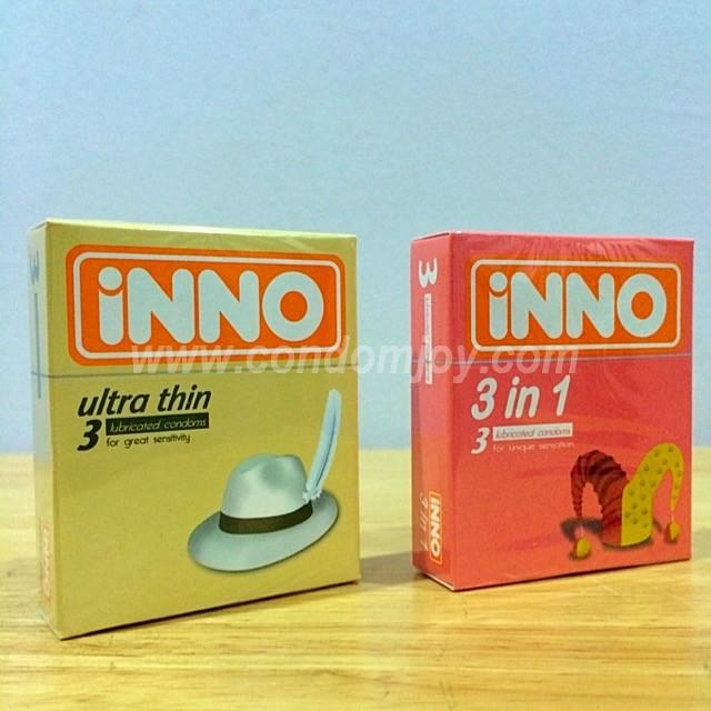 iNNO Ultra Thin and 3 in 1 Condom Kondom Package - 3 Pieces x 2 boxes